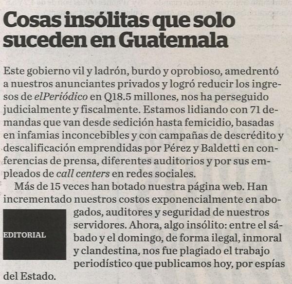 El editorial de el peri dico de hoy luis figueroa for Ejemplo de una editorial de un periodico mural