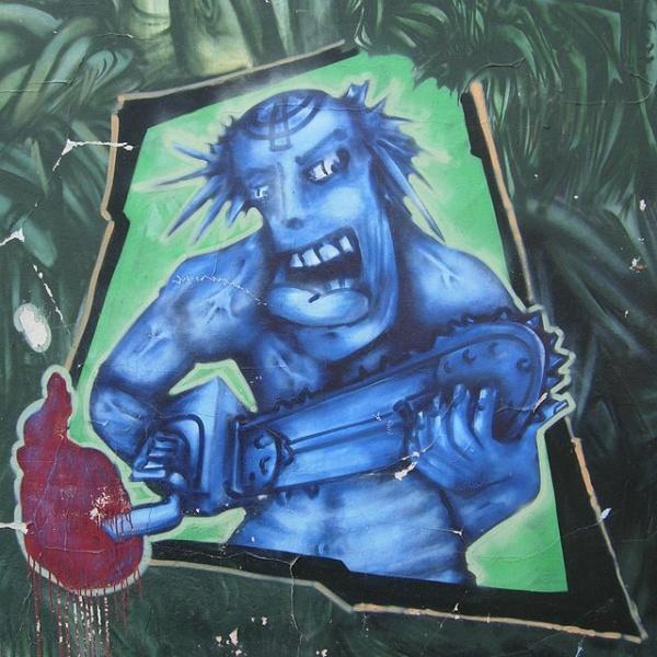 Graffito_Kettensäge
